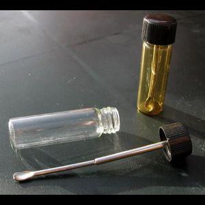 Flaske med teleskopskje