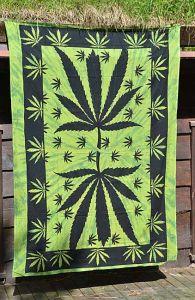 Veggteppe Cannabis