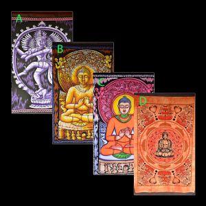 Indiske veggbilder i stoff
