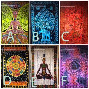 Sengetepper fra India - diverse motiver